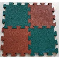 Плитка с резиновой крошки «ПАЗЛ» 455х455 мм