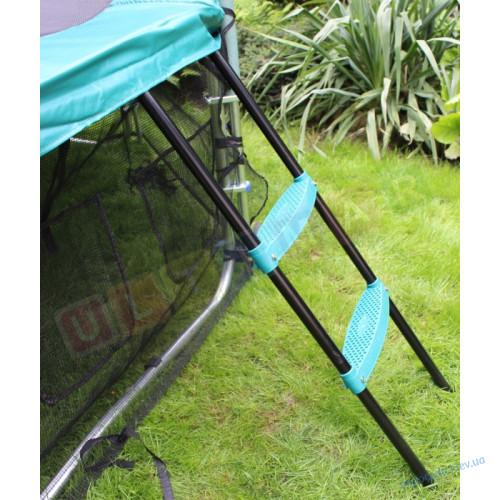 Батут 312 Premium TimaSport с внешней защитной сеткой + защитный чехол от дождя в подарок
