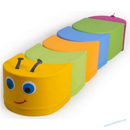 Набор пуфиков Гусеничка для детей