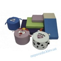 Игровой набор с горкой и пуфами Смешарики