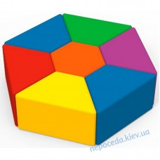 Комплект детских пуфов Семицветик