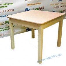"""Дитячий столик дерев'яний (колір білий + пудровий рожевий) """"Соля"""""""