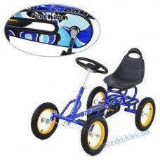 """Веломобіль дитячий """"B- т1698"""" (педалі, гумові колеса)"""