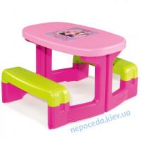 Столик с лавками (розовый, красный)