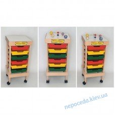 Мобильный стеллаж для хранения дидактических материалов (дерево)