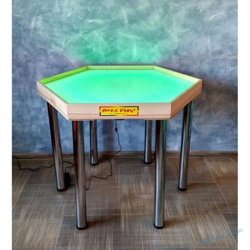 Шестиугольной световой стол для рисования песком