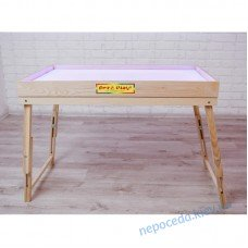 Сенсорный стол для рисования песком со съемной опорой с отсеком