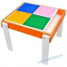 Детский столик-песочница с игровой поверхностью из ДСП оранжевый