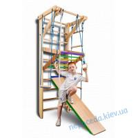 Детские шведские стенки «Sport 3-220» +крепкий турник+горка
