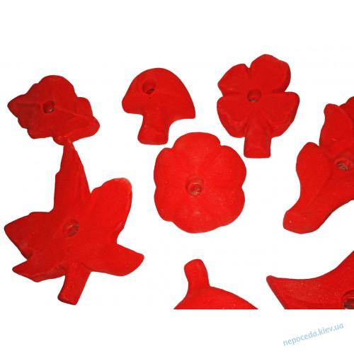 """Зацепы для скалодрома """"Растения"""" красный"""