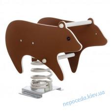 Качалка на пружине Медведь из HDPE пластика (полный комплект)