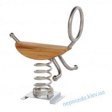 Качалка на пружине Скутер из стали и дерева