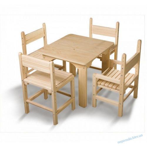 Детский стол и 1 стул растишка сосновый