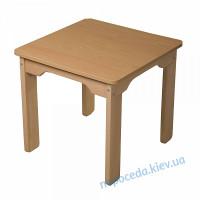 Детский стол из бука (верх ЛДСП)