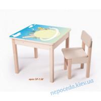 Стол-парта Планета без стульчика