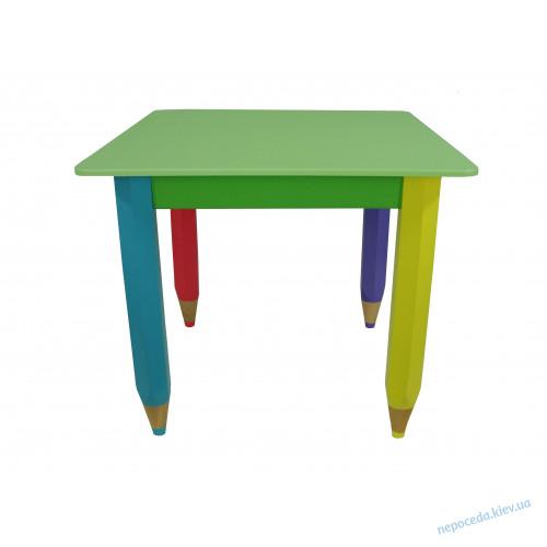 Детский столик без пенала 60см на 40см Карандаши