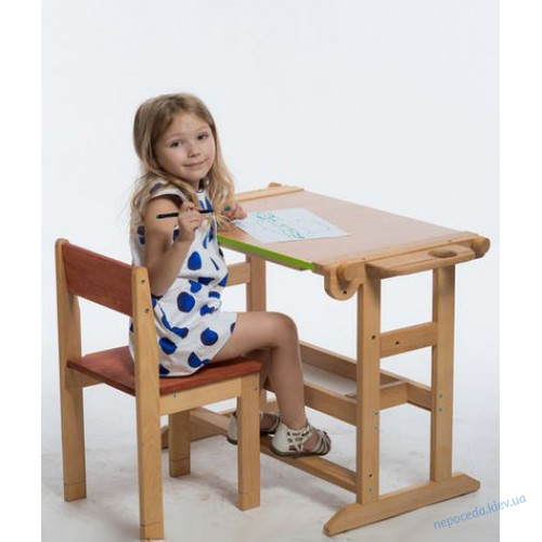 Детская Парта столик с мольбертом для рисования