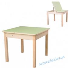 Столик з нішею (без стільця) для дітей (фісташка)