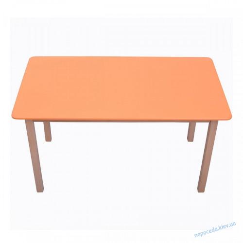 Столик из бука 3 рост двойной оранжевый
