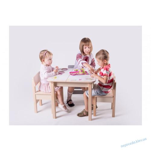 Столик детский с ящиком (с зайчиками)