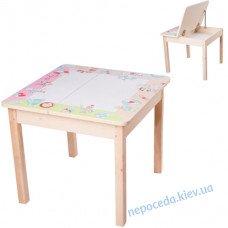 Дитячий столик з ящиком (романтичні лицарі)
