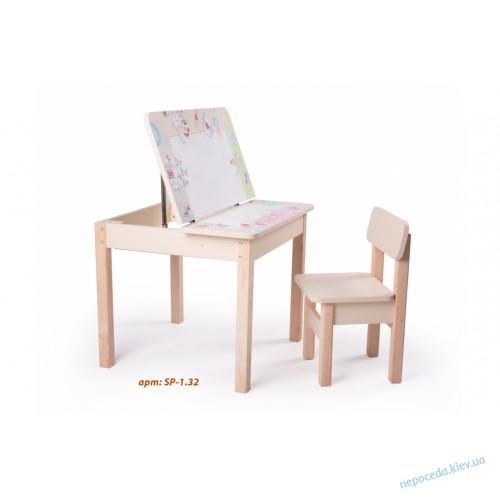 Детский столик с ящиком (романтичные рыцари)