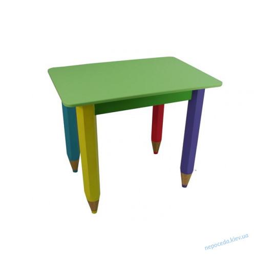 Детский столик c пеналом 60см на 40см Карандаши