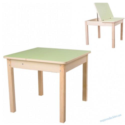 Столик с нишей (без стула) для детей (фисташковый)