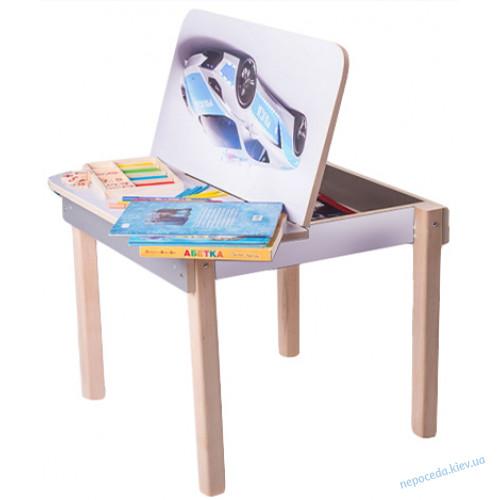 Столик детский с машинкой для рисования