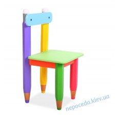 """Стільчик """"Олівці"""" колір сидіння зелений"""