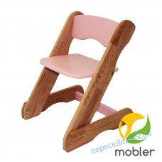 Детский регулируемый стульчик розовый