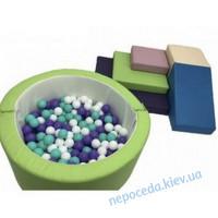 Игровой набор с горкой и круглым бассейном