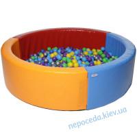 Круглый сухой бассейн 2х2м с дном детский