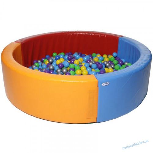 Круглый сухой бассейн 2х2м