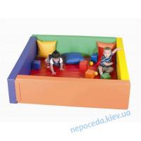 Сухой бассейн с матом 150х150х40 см для наполнения шариками, детский