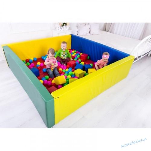 Сухой бассейн 150х120х40 + шарики (500шт)