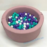Сухой бассейн круглый Пинк 100см розовый