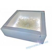 Сухой бассейн Светотерапия квадратный белый