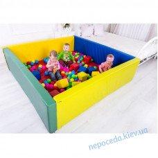 Сухой бассейн с матом 200х200х40 см детский