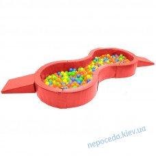 Сухой бассейн Лагуна двойной детский игровой 250см с горкой