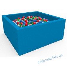 Сухой бассейн с шариками Lucky Квадратный синий