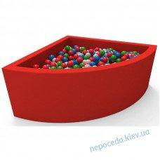 Сухой бассейн с 250 шариками Lucky Угловой 115см детский