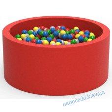 Сухой бассейн с шариками Lucky Круг 90см красный