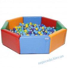 "Сухой бассейн KIDIGO ""Восьмиугольник"" 1,5 м"