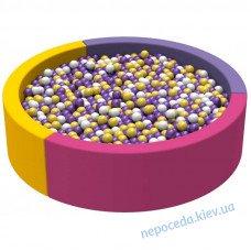 Cухой бассейн 2 м Круг, ПВХ, вторичный поролон (цвет любой)