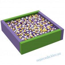 Мягкий бассейн с шариками Квадрат 1,5 ПВХ