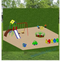 Детская площадка Комплекс с горкой Карусель Балансир Пружинка №6