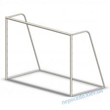 Футбольные ворота без сетки (уличные)