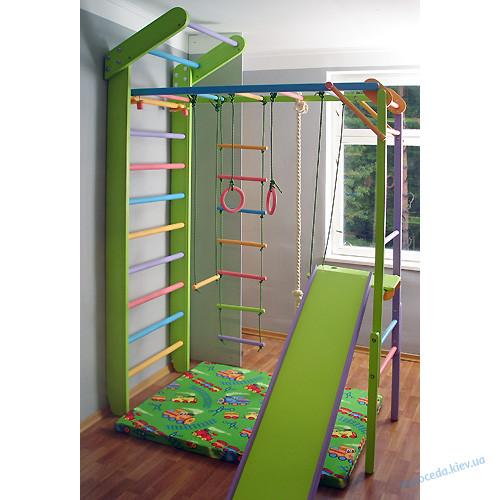 Premium  Уголок Лиана и Детский игровой спортивный комплекс цветные