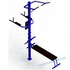Металлический универсальный тренажер для уличных площадок
